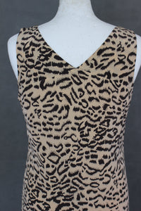 REISS Ladies PAGE 100% Silk Animal Print DRESS - Size UK 10 - US 6