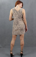 Load image into Gallery viewer, REISS Ladies PAGE 100% Silk Animal Print DRESS - Size UK 10 - US 6