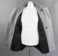 Load image into Gallery viewer, REISS Mens Grey CHESTERFIELD Wool Blend COAT / JACKET - Size Large - L