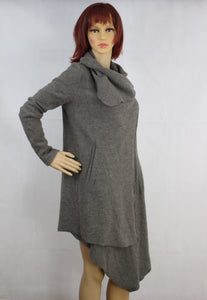 ALLSAINTS Ladies Grey Wool LENDRA COAT - Size UK 8 - US 4 - ALL SAINTS