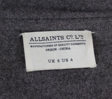 Load image into Gallery viewer, ALLSAINTS Ladies Grey Wool LENDRA COAT - Size UK 8 - US 4 - ALL SAINTS