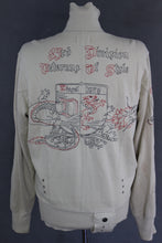 Load image into Gallery viewer, DIESEL Mens Beige Jersey JACKET with Embroidered Detailing - Size Medium - M
