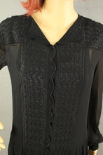 Load image into Gallery viewer, ISABEL MARANT ÉTOILE Ladies Beautifully Embroidered Black DRESS - Size FR 36 - UK 8