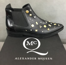 Load image into Gallery viewer, New ALEXANDER MCQUEEN Ladies REDCHURCH ANKLE CHELSEA BOOTS Size EU 38 - UK 5