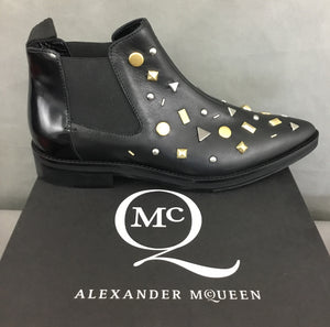 New ALEXANDER MCQUEEN Ladies REDCHURCH ANKLE CHELSEA BOOTS Size EU 38 - UK 5