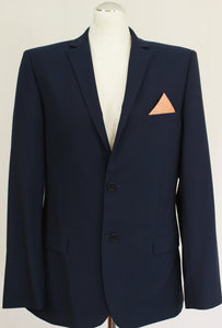 "TED BAKER Mens Blue ASTRO Wool Blend SUIT Size 40R 40"" Chest Waist 38"" - Leg 28"""