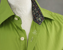 "Load image into Gallery viewer, CHRISTIAN LACROIX HOMME Fabulous Green SHIRT Size 15.75"" Collar - EU40 - Large L"