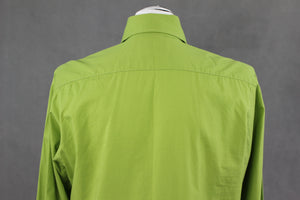 "CHRISTIAN LACROIX HOMME Fabulous Green SHIRT Size 15.75"" Collar - EU40 - Large L"