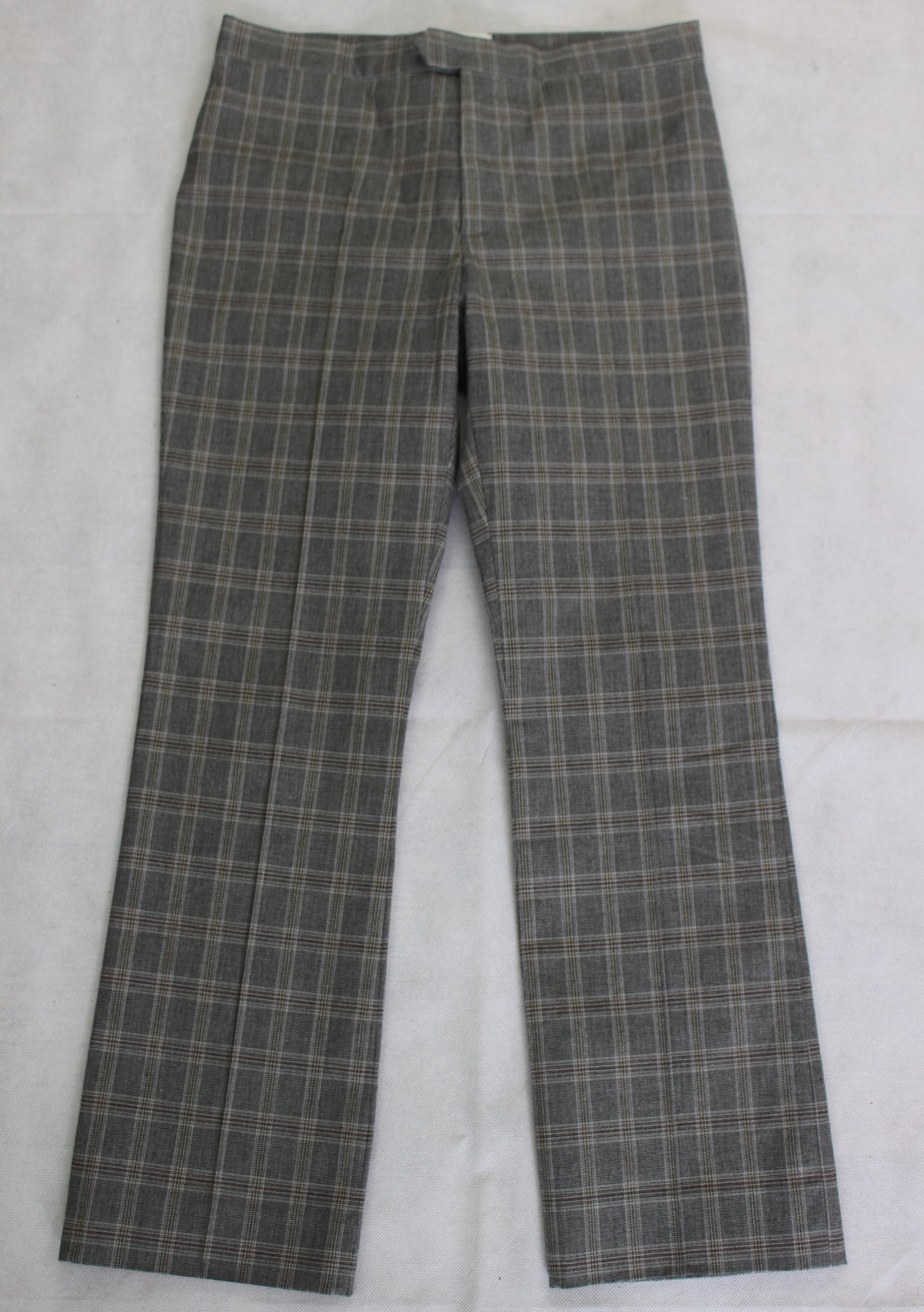 ISABEL MARANT ÉTOILE Mid Rise Grey Check Pattern Capri TROUSERS Size FR 34 UK 6