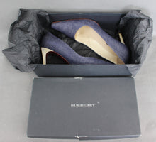 Load image into Gallery viewer, BURBERRY London KATE Denim High Heel COURT SHOES Size EU 40.5 - UK 7.5 - US 9.5
