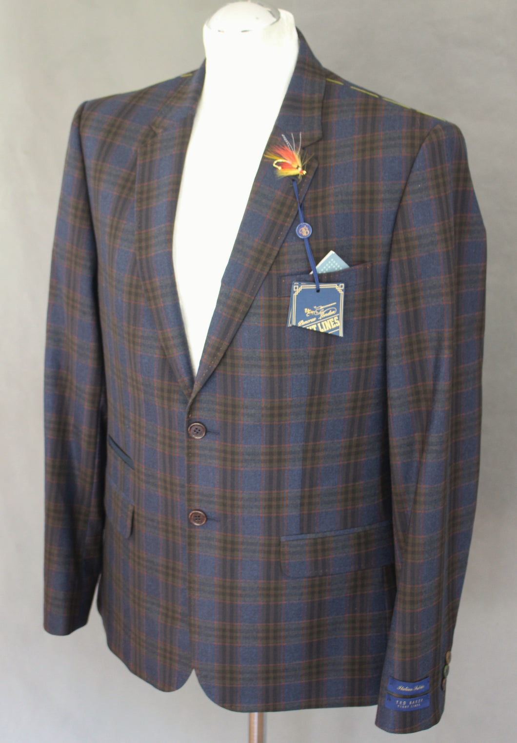 New TED BAKER Mens SABINES Checked BLAZER / JACKET - Size 40R - Chest 40