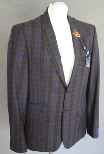 "New TED BAKER Mens SABINES Checked BLAZER / JACKET - Size 40R - Chest 40"" - BNWT"