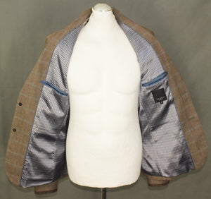 New TED BAKER Mens RUBEUS Check Pattern BLAZER / Tailored Jacket Ted Size 2 - Small - S