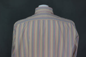 HUGO BOSS Mens Colourful Striped Pattern SHIRT - Size Extra Large - XL