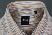 Load image into Gallery viewer, HUGO BOSS Mens Colourful Striped Pattern SHIRT - Size Extra Large - XL