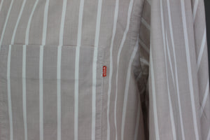 HUGO BOSS Mens CANTOS-1 Striped Long Sleeved SHIRT - Size Large - L