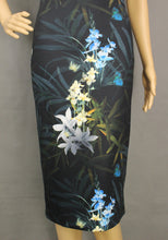 Load image into Gallery viewer, TED BAKER Black LOUA Floral Pattern Pencil DRESS Ted Size 0 - XXS 2XS - UK 6
