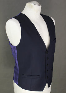 "New - TED BAKER Mens LEANINW Dark Blue Fashion Fit WAISTCOAT - Size 36R - 36"" Chest - Small S - BNWT"