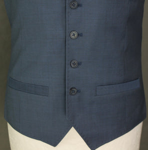 New TED BAKER PASHION Mens BEARWAY Blue WAISTCOAT Size 38R - Medium M - BNWT
