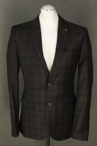"New TED BAKER Mens YONKERS Wool BLAZER / Tailored Jacket Ted Size 2 - 36"" Chest"