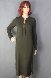 New ALEXANDER McQUEEN Ladies Green Patchwork DRESS - Size XS Extra Small - BNWT