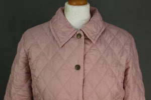 BARBOUR Ladies SHAPED FLYWEIGHT QUILT SHORT Quilted JACKET / COAT - Size UK 12