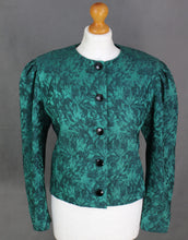 Load image into Gallery viewer, Vintage CHRISTIAN DIOR Coordonnés Green Silk Blend JACKET Size FR 38 UK 10