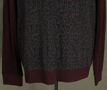 Load image into Gallery viewer, New TED BAKER Mens Maroon LEOPARD PRINT KENN JUMPER Ted Size 6 - 2XL XXL BNWOT