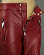 Load image into Gallery viewer, ISABEL MARANT ÉTOILE Red ZAPPERY Faux Leather TROUSERS - Size FR 34 - UK 6