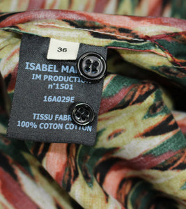 New ISABEL MARANT ÉTOILE Multicoloured GAETAN PRINT SHIRT Size FR 36 - UK 8 BNWT