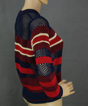 Load image into Gallery viewer, ISABEL MARANT ÉTOILE Contrast Knit Navy & Red Striped JUMPER Size FR 36 - UK 8