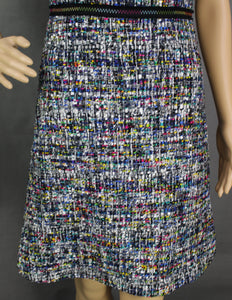 BOUTIQUE MOSCHINO Ladies Colourful Bouclé Tweed DRESS - Size IT 38 - UK 6