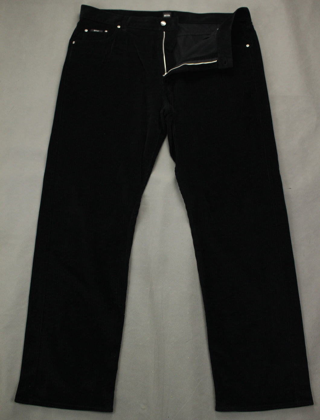 HUGO BOSS Mens ARKANSAS Black CORDUROY JEANS - Size Waist 42