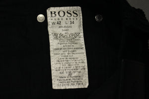 "HUGO BOSS Mens ARKANSAS Black CORDUROY JEANS - Size Waist 42"" - Leg 34"""