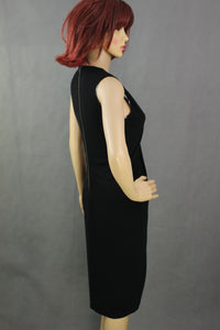 HELMUT LANG Ladies Crossover Drape Sleeveless Black DRESS - Size Small S