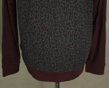 Load image into Gallery viewer, New TED BAKER Mens Maroon LEOPARD PRINT KENN JUMPER Ted Size 5 - Extra Large XL BNWOT
