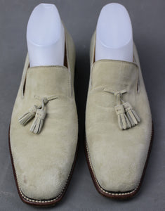SALVATORE FERRAGAMO Mens Tassled Suede LOAFERS / SHOES Size 7 EE - UK 6 - EU 41