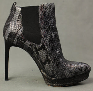 MICHAEL KORS Snakeskin Stiletto Heel ANKLE BOOTS Size US 9.5 - UK 7.5 - EU 40.5