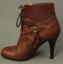 Load image into Gallery viewer, Paul Smith Ladies Brown Leather High Heeled ANKLE BOOTS Size EU 39 - UK 6