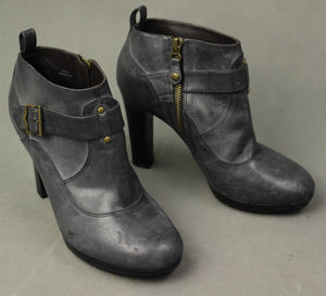 Paul Smith Ladies Grey Leather High Heeled ANKLE BOOTS Size EU 38 - UK 5