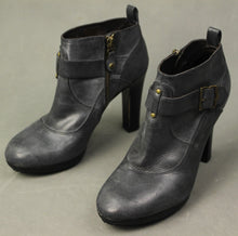 Load image into Gallery viewer, Paul Smith Ladies Grey Leather High Heeled ANKLE BOOTS Size EU 38 - UK 5