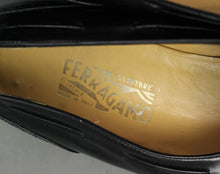Load image into Gallery viewer, SALVATORE FERRAGAMO Mens Black Leather Tassled Brogue SHOES Size 13 D - UK 12 - EU 47