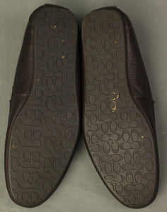 COACH Mens JAKE Brown Monogram LOAFERS / SHOES Size UK 10.5 - EU 44.5 - US 11.5M
