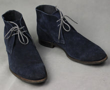 Load image into Gallery viewer, CROCKETT & JONES Mens Blue Suede HAYLE BOOTS - Size UK 11 - EU 45