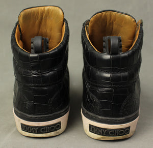 JIMMY CHOO Mens Black High Top Trainers / Casual Shoes - Size EU 42 - UK 8