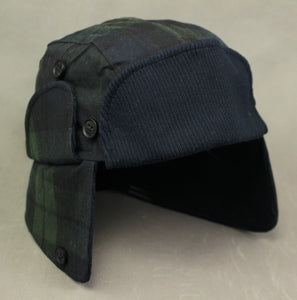 New TED BAKER London Mens HAZARD Check Pattern Trapper HAT - Size 57cm