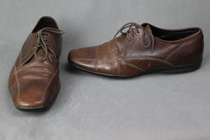 PRADA Mens Brown Leather Oxford Lace-Up SHOES - Size UK 6 - EU 40