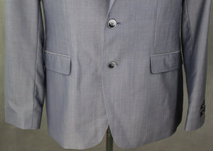 "New TED BAKER PASHION Grey Wool & Silk Blend JACKET / BLAZER Size 44R 44"" Chest"