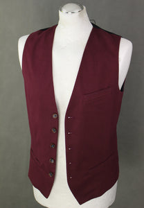 "New TED BAKER Mens STAWAI Maroon WAISTCOAT - Ted Size 2 - 36"" Chest - Small S - BNWT"