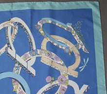 Load image into Gallery viewer, SALVATORE FERRAGAMO 100% SILK SCARF - 87cm x 87cm - Made in Italy